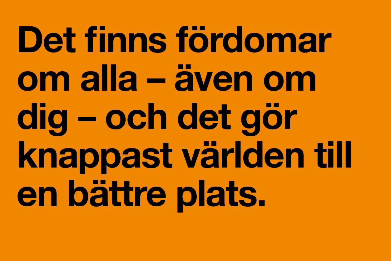 Fördomar, Fredens hus i Uppsala