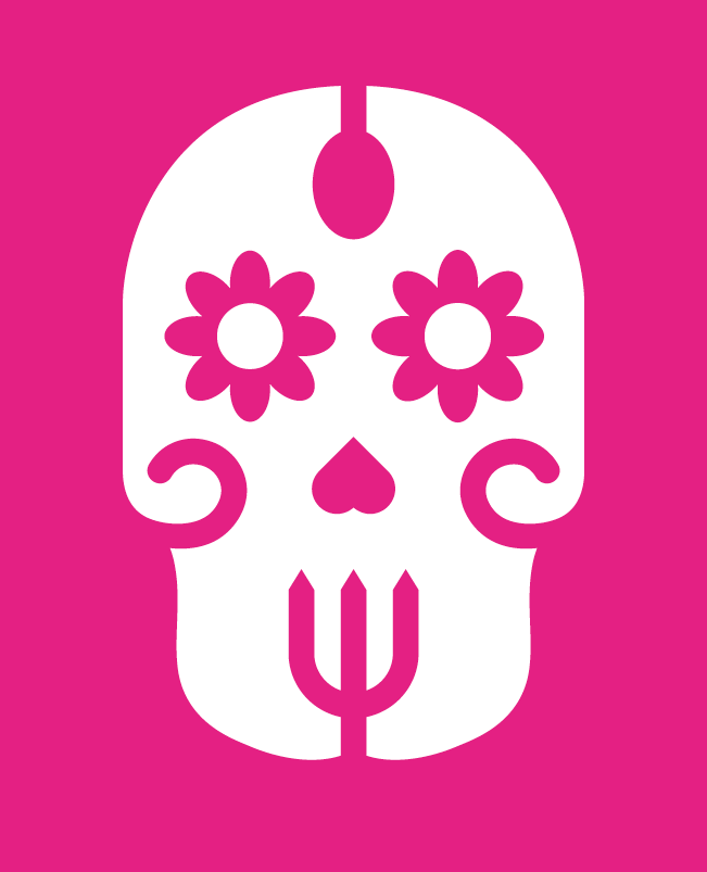 En rosa foodtruck som tar Mexiko till dig