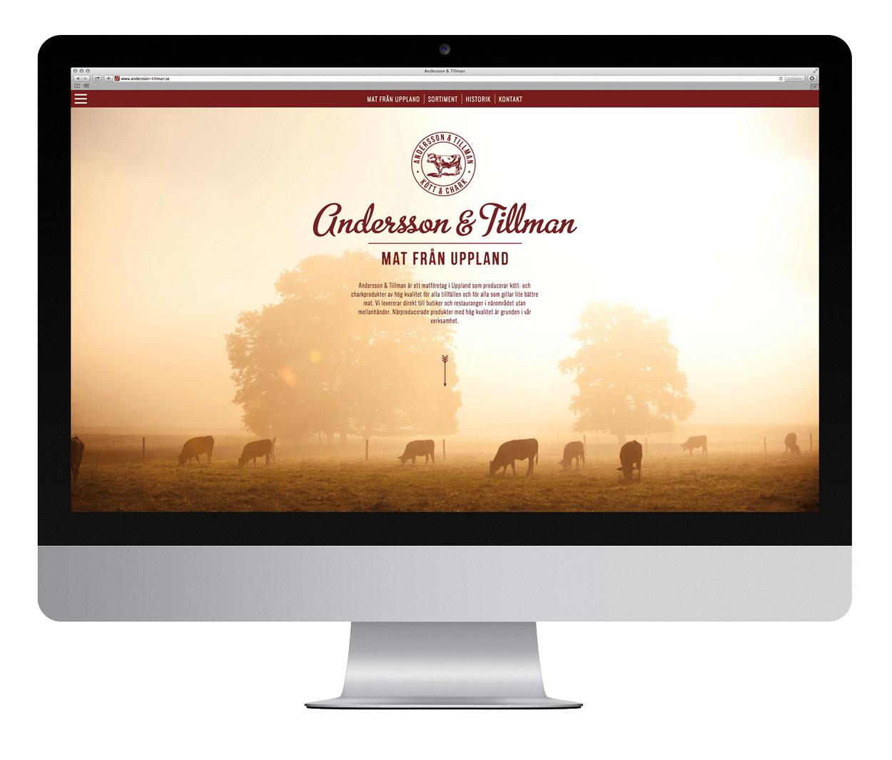 Andersson och Tillman webb på desktop