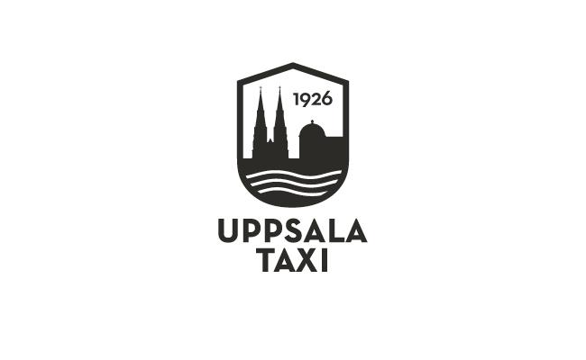 Vänsterställd version av Uppsala taxis logo.
