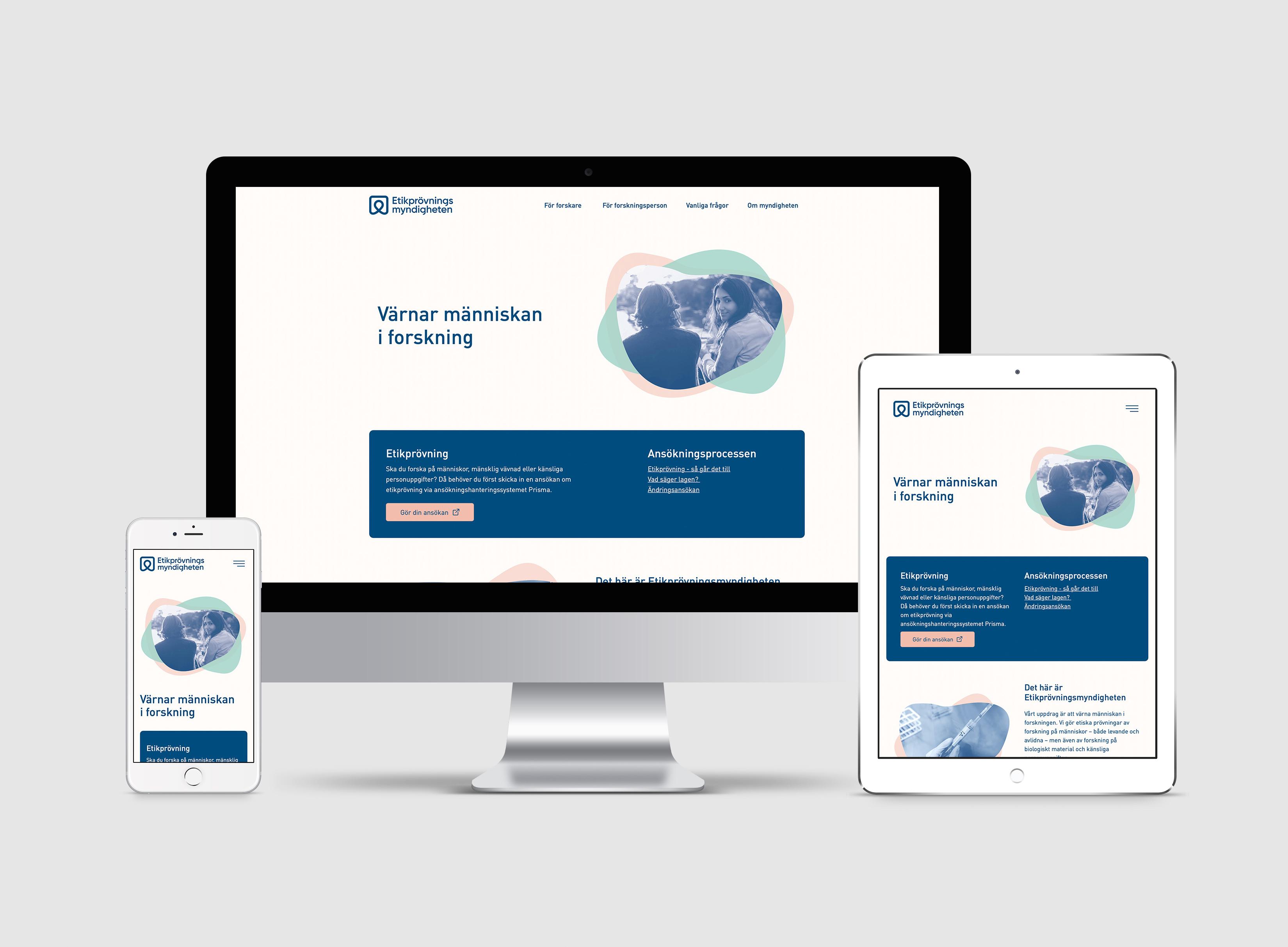 Etikprövningsmyndigheten webbplats