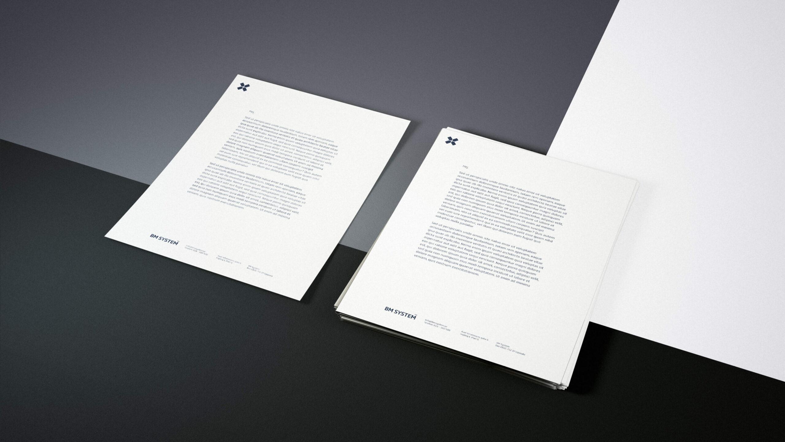 BM System brevpapper