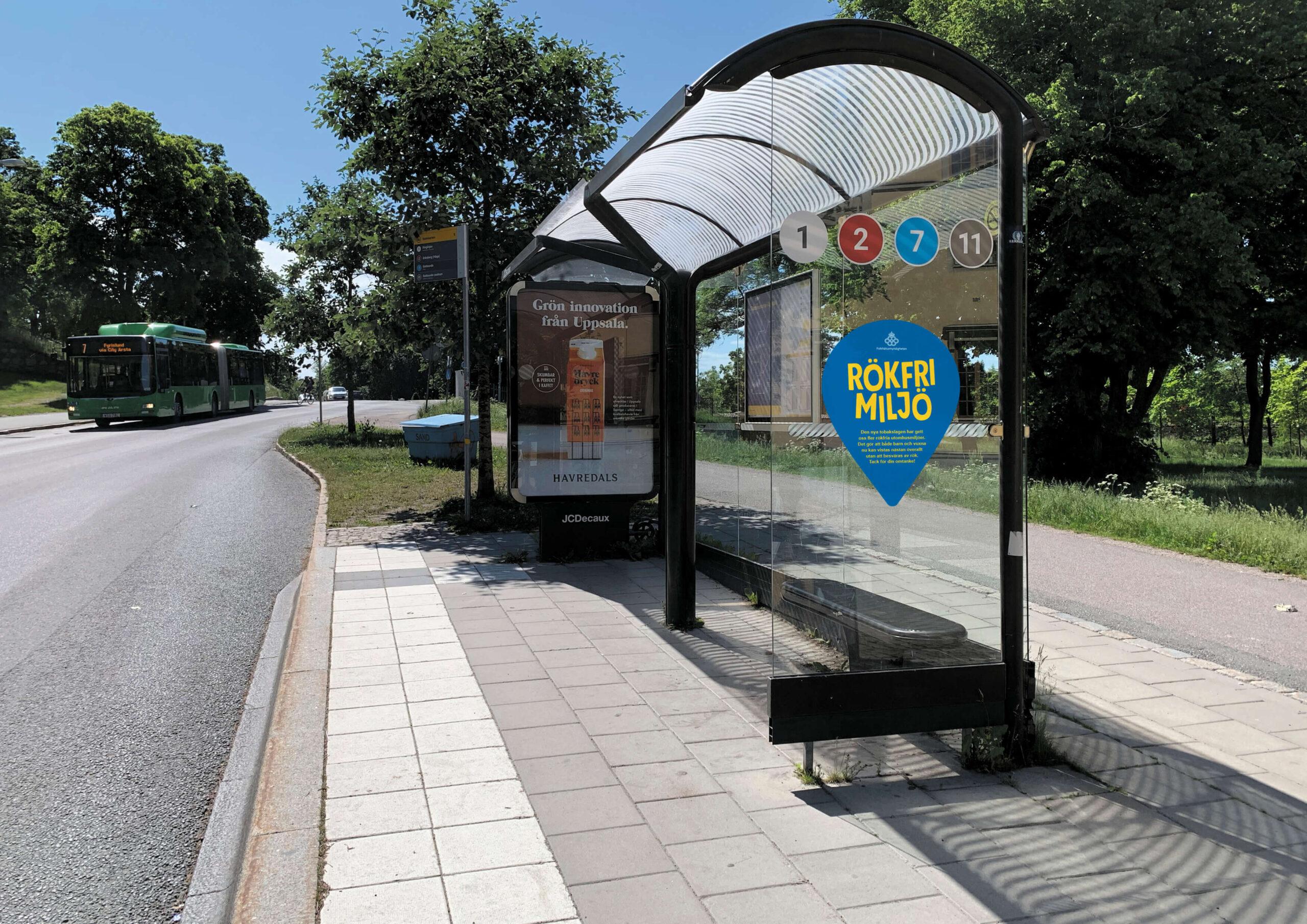 Rökfri miljö busskur