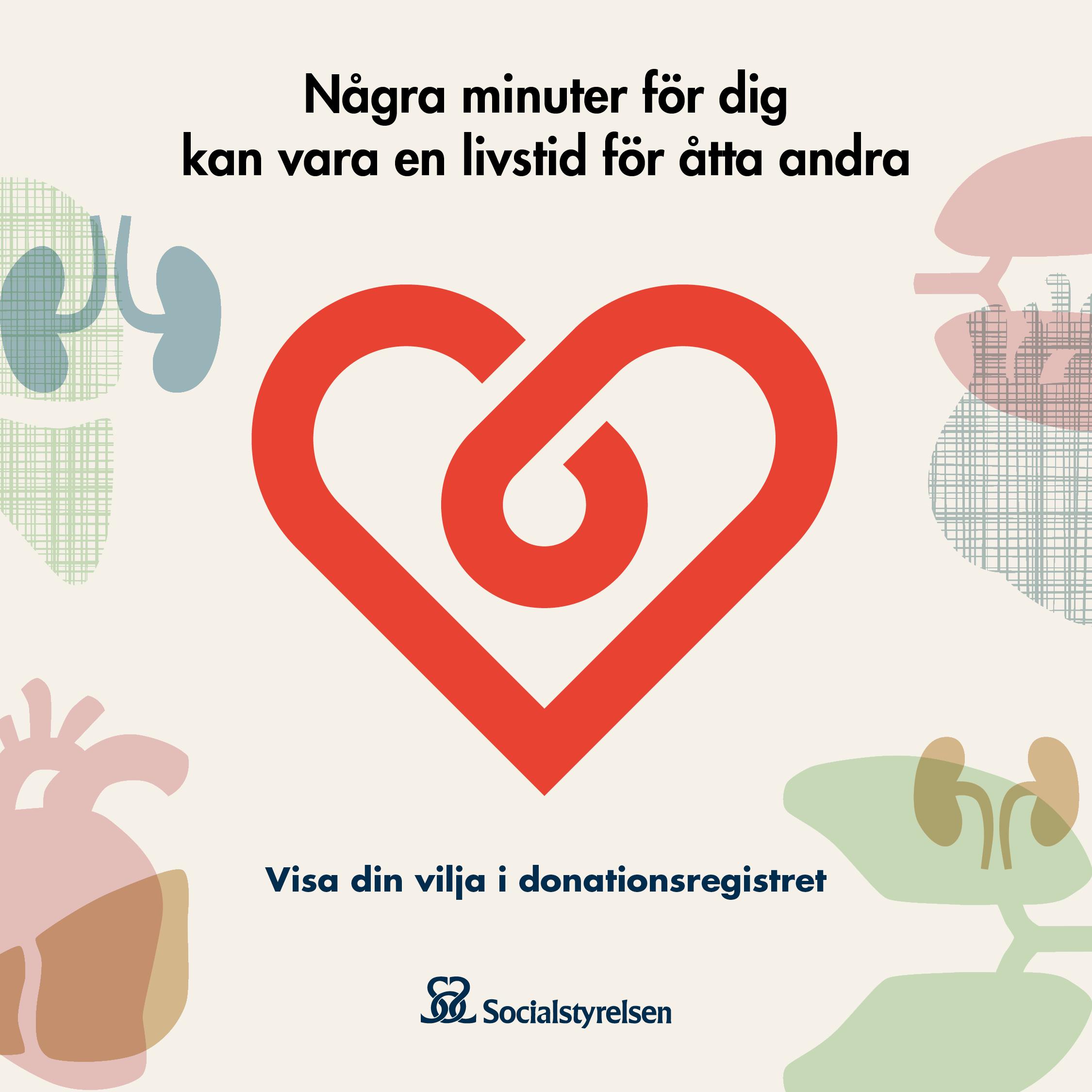 Visa din vilja i donationsregistret