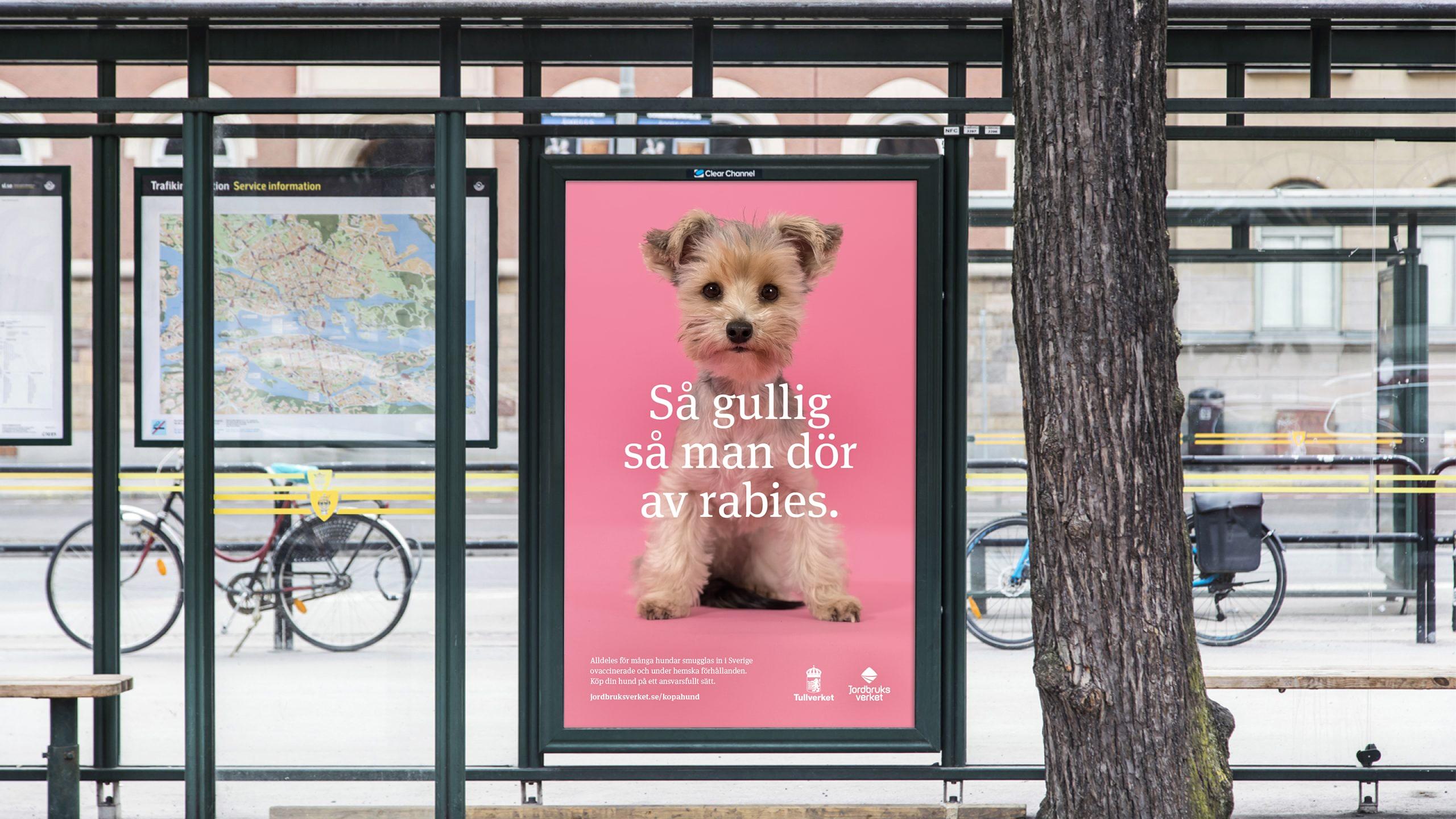 Smuggelhundarna, stortavla på stan