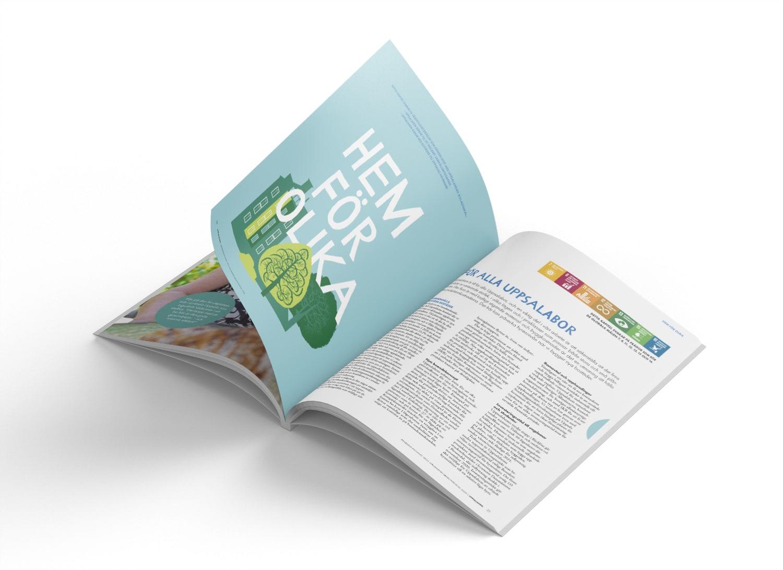 Uppsalahems hållbarhetsredovisning och årsredovisning